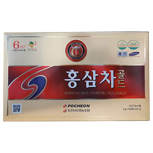 Pocheon Ginseng 300g Korean Panax Rode Ginseng Extract thee, 15% Extract