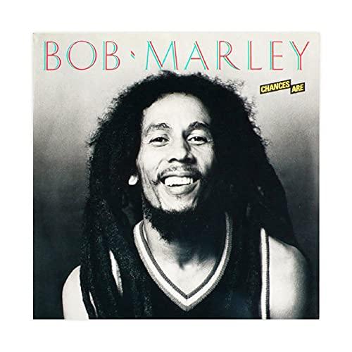 Álbum de la cubierta de Bob Marley entrevistas álbum lienzo póster de pared decoración de cuadros para sala de estar dormitorio decoración Unframe: 40 x 40 cm