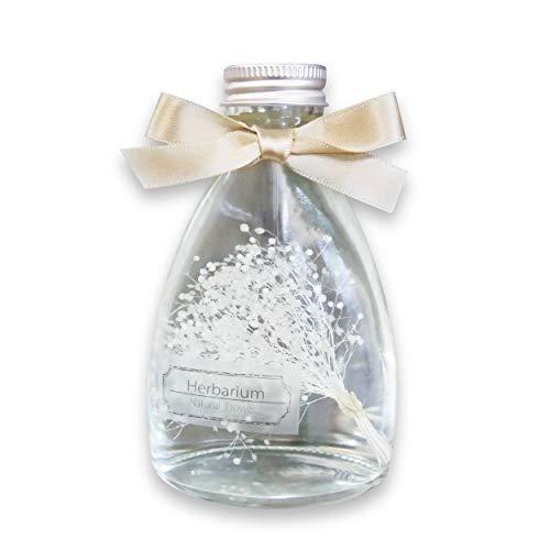 ハーバリウム かすみボトル 白 かすみ草 プレゼント 誕生日 ギフト 枯れない花 12.44cm