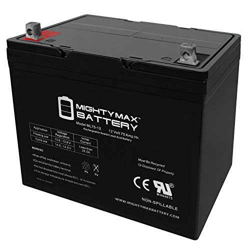 ML75-12 - 12V 75AH SLA Battery - Mighty Max Battery Brand Product