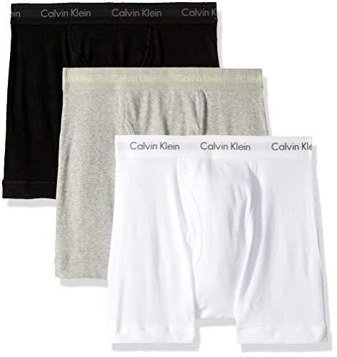 Calvin Klein Men's Underwear Cotton Classics Boxer Briefs - X-Large - White/Black/Grey (Pack of 3)