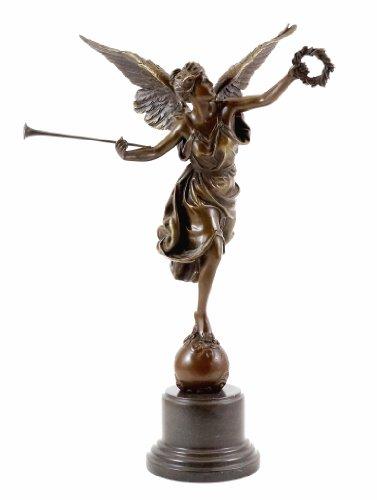 Kunst & Ambiente - Bronzestatue - La Renommee - Ernest Barrias - signiert - Bronzefigur - Skulptur Kaufen - Wohndeko - Deko Figuren edel