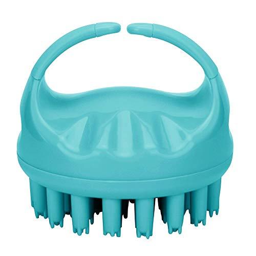 Pasamer Forme Ronde Poche Tête Massage du Cuir Chevelu Brosse Shampooing Cheveux Brosse À Laver avec Poignée Rose Vert Violet(02)