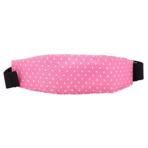 Bayda - 1 cinta de fijación para niños con diseño de estrella, para el asiento del coche, para dormir, para el cochecito, asiento de seguridad, color rosa