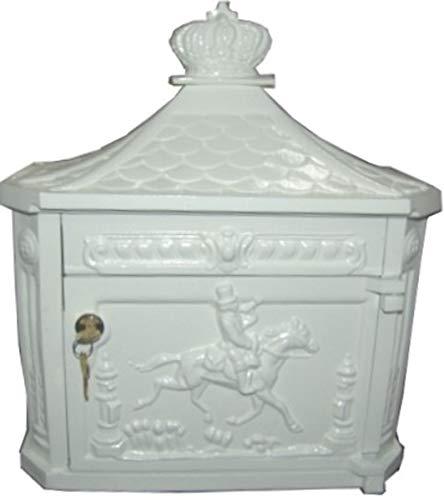 Casa Padrino Wandbriefkasten Antik Jugendstil Weiß Briefkasten Postkasten Mod2