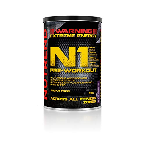 Nutrend N1 510g Blackcurrant Flavour Body Stimulant than the instant form of pre-workout promote muscle pumping Beta-alanine, AAKG Taurine DMAE