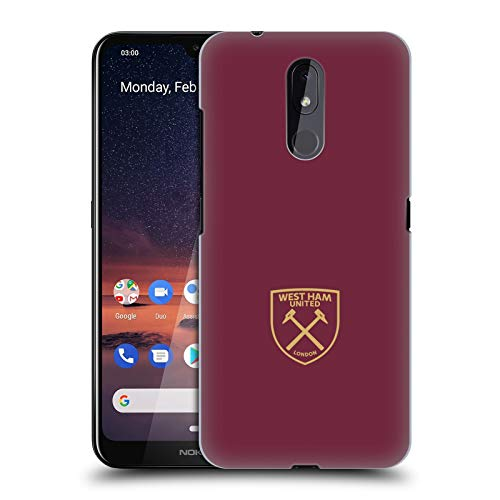 Officiële West Ham United FC Goud Logo Crest Hard Back Case Compatibel voor Nokia 3.2