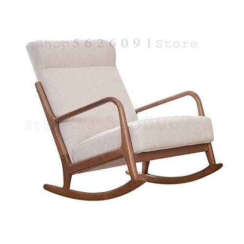 BOOSSONGKANG silla, Balcón, Silla de ocio, mecedora, Sofá mecedora de madera maciza, Modelo1