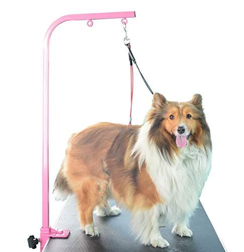 Gravitis Fellpflege-Set für Hunde mit Hals- und Lendenhaltern, zur Anwendung mit Trimmtisch