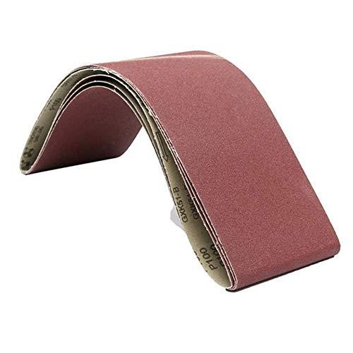 VOPTECH 3Pcs 6X48 Inch Schleifbänder Aluminiumoxyd 100 Grits mit Schleifbänder Schleifwerkzeug Industrie