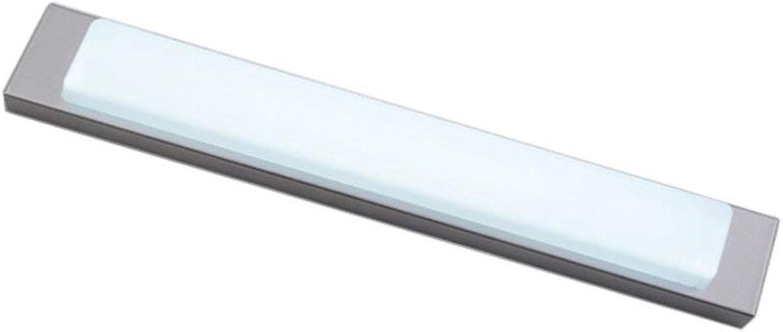 Einfache, moderne Rechteck wasserdicht Beschlagfrei wc Badezimmerspiegel Beleuchtung am Bett Gang Flur Zimmer Hotel Wandleuchte LED Energiesparen Spiegel vorne Licht (Gre  42 cm  6,5 cm)