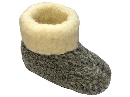 Unisex Pure schapen wol Slippers laarzen schapenvacht LEO