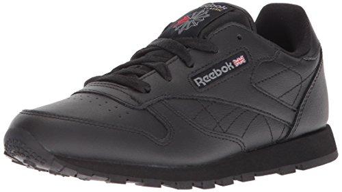 Reebok Little Kid Classic Leather Sneaker,Black,3 M US Little Kid