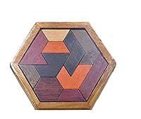 マルチ 木製 タングラムパズル 子供 知育玩具 知力を開発 飾り ギフト