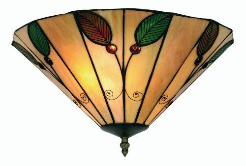 Oaks Lighting Tiffany-Uplighter Leaf, 35,5 cm