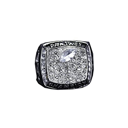2019 Fantasy Football Championship Ring Ringe Replik Kreativer Ring für Frauen und Männer Champion Ring,with Box,11#