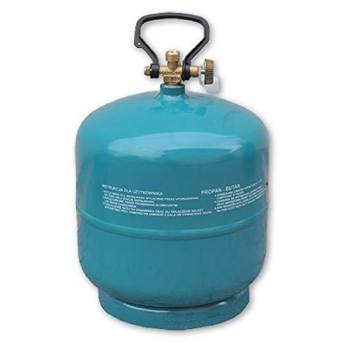 Preis-Zone Bradas 9037 - Botella de gas rellenable (propano y butano, 3 kg/7,2 L)