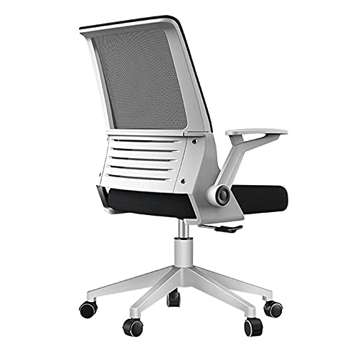 Silla de oficina ergonómica, silla de computadora de malla transpirable con respaldo alto y soporte lumbar ajustable, ruedas giratorias silenciosas de 360 °, base de resina de nailon reforzado