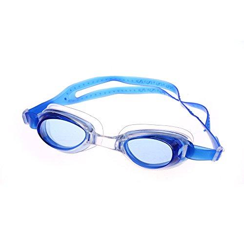 Demarkt - Gafas de natación Profesionales para Adultos con Correa de Silicona, cómodas, densas, antivaho, antirotura, sin corrosión, Color Azul, tamaño 6.7 * 3 * 3.7cm