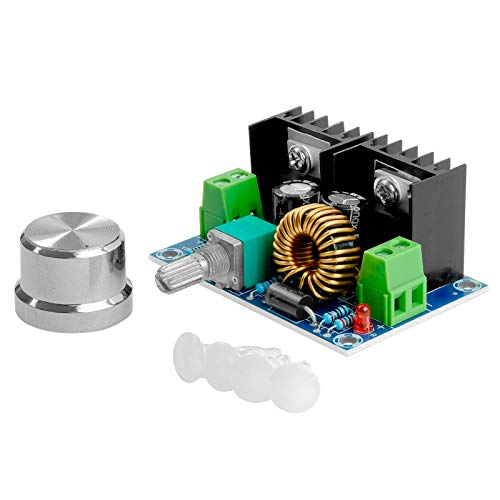 AZDelivery XL4016E1 DC-DC Step Down Buck Converter mit erweitertem Potentiometer, Spannungswandler PWM Einstellbar 4-40V auf 1.25-36V 8A Step Down XH-M401 kompatibel mit Arduino inklusive E-Book!