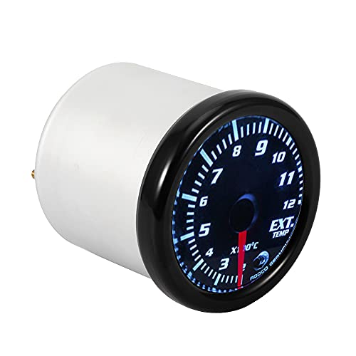 Clear LED Car Gauge, IGN Maximum 0.3A ILM 0.3A Gauge Kit Made of Metal and Plastic