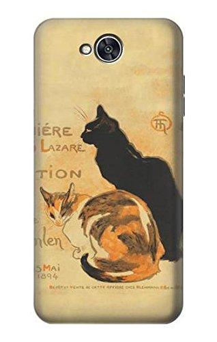 Innovedesire Vintage Cat Poster Hülle Schutzhülle Taschen für LG X power2, LG X Charge, LG K10 Power, LG Fiesta