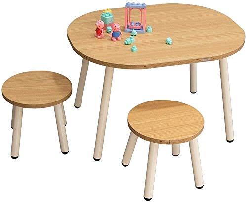 Lage tafel Houten Activity Tafel Stoel Learning Activiteitentafel/Baby Speeltafel Toy/Infant activiteitentafel/Kid Eettafel/Kid bureaustoel (Kleur: Geel, Maat: 70x60 / 26x27.5cm)