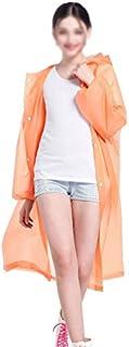 ZXQZ レインコートアダルトアウトドアハイキングポンチョ登山ポータブルレインコートフルボディ防水レインコートマルチカラー ポンチョ (色 : オレンジ)