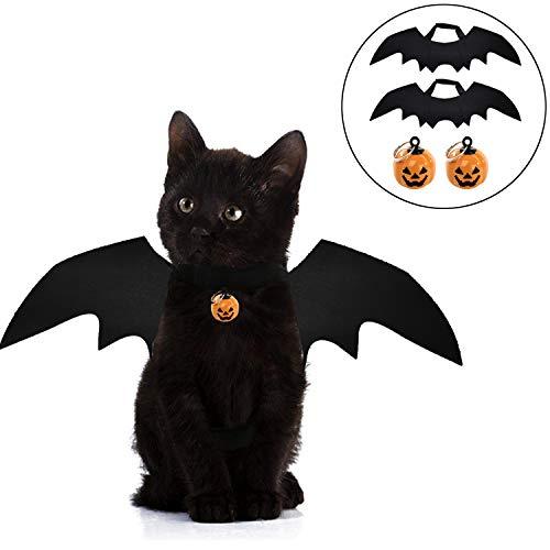 POPETPOP Collar de Perro de Halloween-Calabaza Gato Gato Disfraz de Halloween Pajarita peque/ña Mascota Collares de Halloween