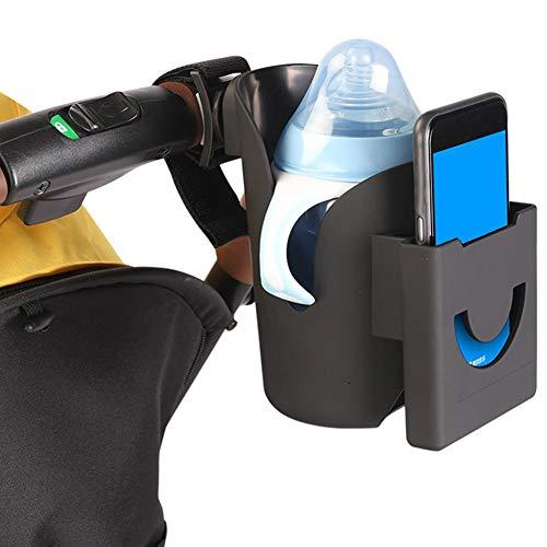 su-luoyu Kinderwagen Getränkehalter 2 In 1 Becherhalter Telefonhalter Universal ABS Kunststoff Babyflasche Flaschenhalter Kinderwagen Organizer Für Baby Buggy Fahrrad Und Rollstuhl