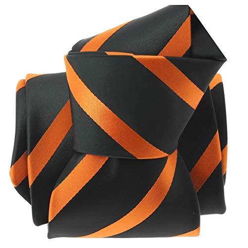 Clj Charles Le Jeune. Cravate. URBANE CLUB, Microfibre. Orange, Club/rayé.