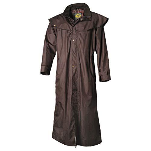 SCIPPIS Stockman Coat vers. Farben - Regenmantel bzw. Reitmantel in Westernstil für Cowboys Biker bzw. Australische Mode (braun, S)