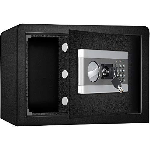 ETE ETMATE Tresor Safe mit Schlüssel Safe Cabinet Security, Vertraulicher Aktenschrank Elektronisches Feuerfest und wasserdicht Passwort Safe Alle Stahl-In-Wall-Home-Office-Safe