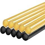 HOFTYCAR Paintless Dent Repair Glue Sticks Hot Glue Sticks for Car Repair Dent Remover Tool 10PCS- (5PCS Black & 5PCS Yellow)