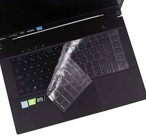 CASEDAO Silicon Keyboard Cover for ASUS ROG Strix Scar 15 Gaming G532LWS G531GV-DB76 G531GT-BI7N6, ROG Strix G15 G512LW-ES76 G512LV-ES74 GL531GT-EB76 15.6 Gaming Laptop - Clear/Transparency