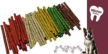AIME Bâtonnets à mâcher pour Chien, 100 Batônnets x 12cm, Peau de Buffle, Friandise Carnée Chien 800G