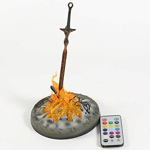LYZL 23cm Modelo de Personaje de Anime Escala 1/6 Hoguera de Dark Souls 3 con luz PVC Figuras de Juguete decoración Muñecas Estatua Regalo Artesanía Anime Puppet Action