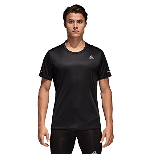 adidas Run tee M T-Shirt, Hombre, Black, L
