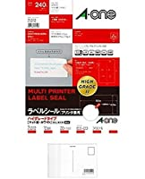 エーワン ラベルシール ハイグレードタイプ12面 75312 【まとめ買い3パックセット】 + 画材屋ドットコム ポストカードA