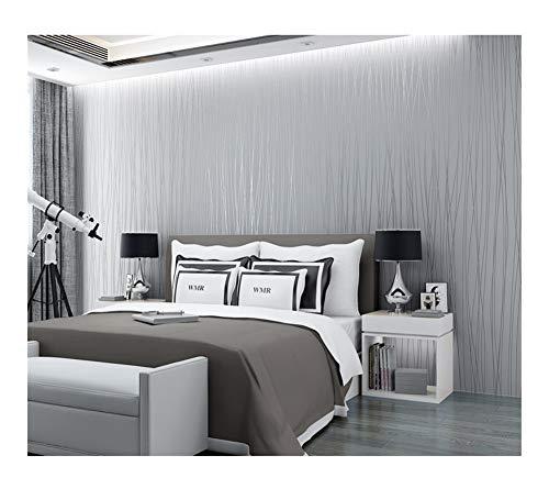 HDS Einfach modern Solid Color Striped Non-Woven-Selbstklebende Tapete Schlafzimmer Wohnzimmer TV Hintergrund Wand-Papier
