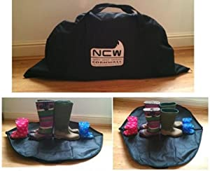 NCW Cornwall Welly Boot Bag Family Size Fit More Pairs Wellies Keep Car Dry Clean