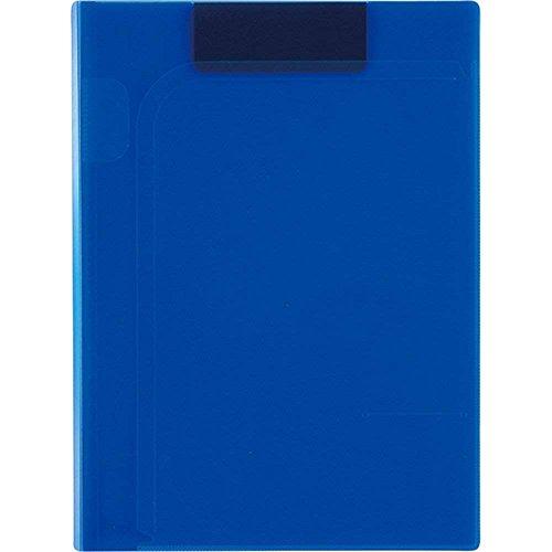 セキセイ マグネット式 クリップファイル マグネプラス A4 コバルトブルー ACT-5924-14 【まとめ買い3冊セット】