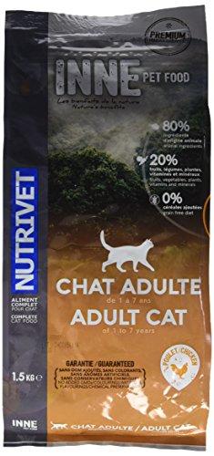 Nutrivet Inne Huhn ab D '1Jahr für Erwachsene Katzen Tasche von 1,5kg