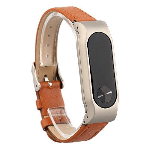 VAN+ Unisex Regolabile Pelle Fascia Polso Ricambio Braccialetto Fascia per Xiaomi Miband 2 Smart Bracciale