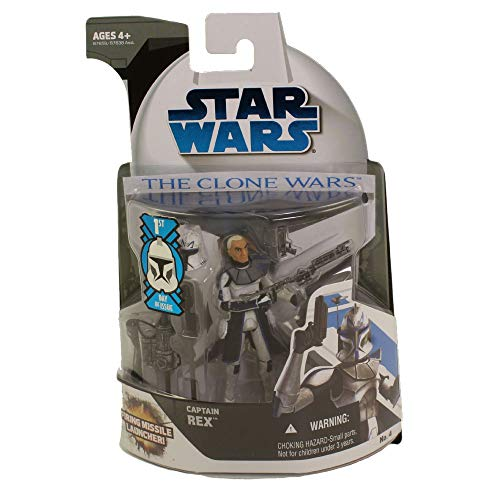 Star Wars Clone Wars - Captain Rex 3.75' Figure with Firing Missile Launcher