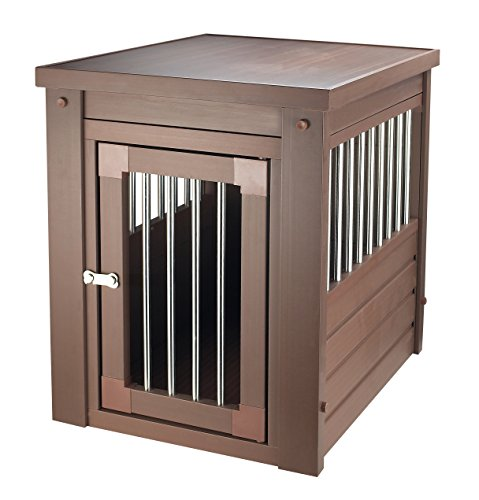 ecoFlex Pet Crate/End Table, Russet, Small