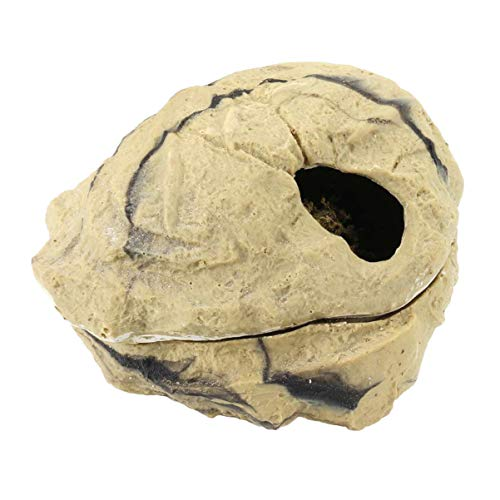 Balacoo Schlangenhaut-Reptilien-Häute und Höhlen-Echsen-Versteck Robustes großes Crawler-Shelter-Reptilien-Versteck für Schlangen-Reptilien-Echsen-Groß