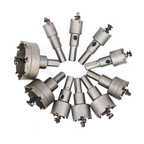 LF&LQEW De Metal Agujero de perforación con Punta de carburo Núcleo Broca de Corte 16-53mm Conjunto Sierras TCT Taladro Broca (tamaño : 10pcs 16 53mm Set)
