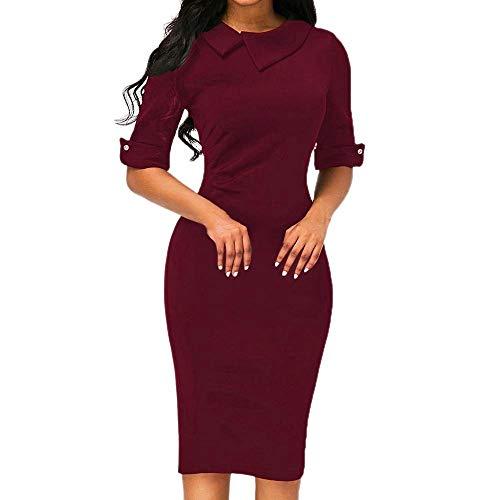 Elegancka elegancka sukienka z długim rękawem damska retro wygodne rozmiary obcisłe poniżej kolan formalna odzież biurowa sukienka modna sukienka biznesowa z ołówkową sukienką