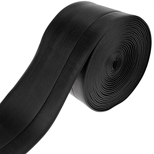 PrimeMatik - Rodapié Flexible Autoadhesivo 50 x 20 mm. Longitud 5 m Negro